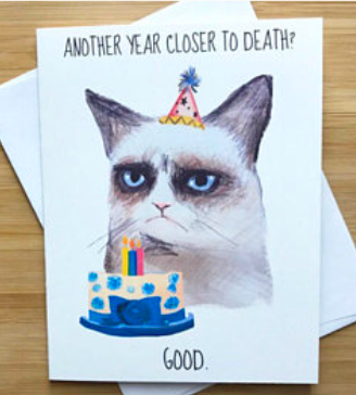 Grumpy Cat Birthday Greeting Card