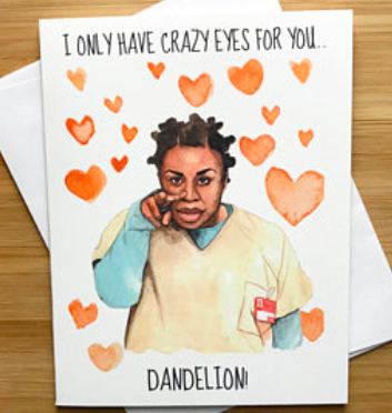 Crazy Eyes Love Greeting Card