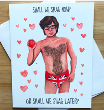 Austin Powers Love Greeting Card