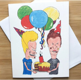 Beavis and Butt-Head Birthday Greeting Card