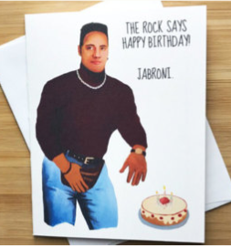 90's Dwayne Johnson Birthday Greeting Card