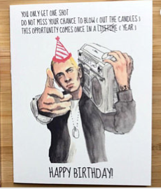Eminem Birthday Greeting Card