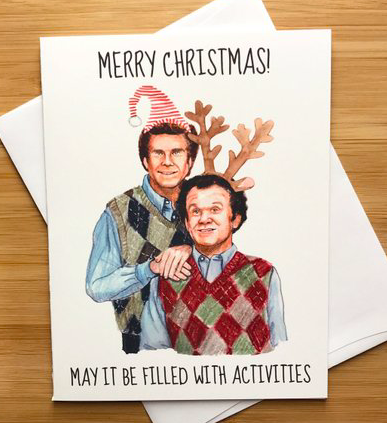 Step Brothers Christmas Card