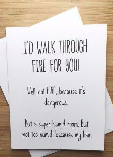 Walk Through Fire Greeting Card