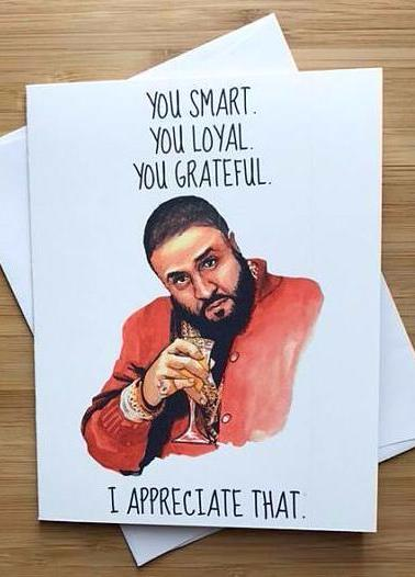 DJ Khaled Greeting Card