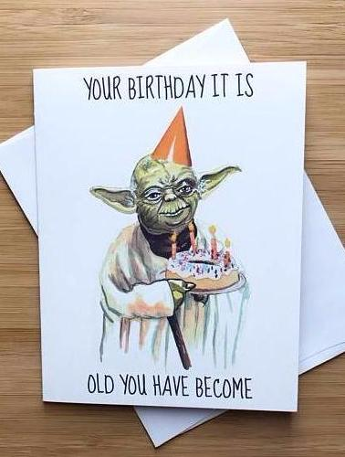 Yoda Birthday Greeting Card