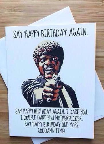 Pulp Fiction Birthday Greeting Card