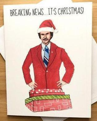 Breaking News Christmas Card