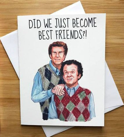 Step Brothers Friendship Greeting Card