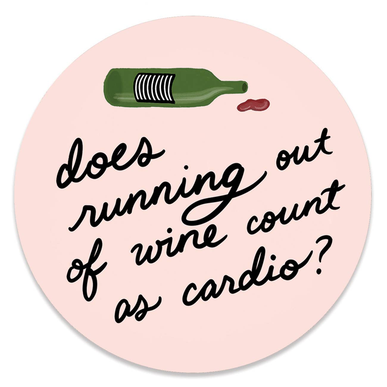 Out of Wine Sticker