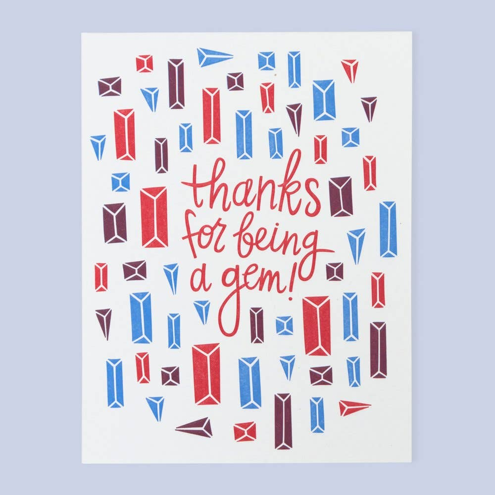 Gem Thanks Card (Boxed Set of 6)
