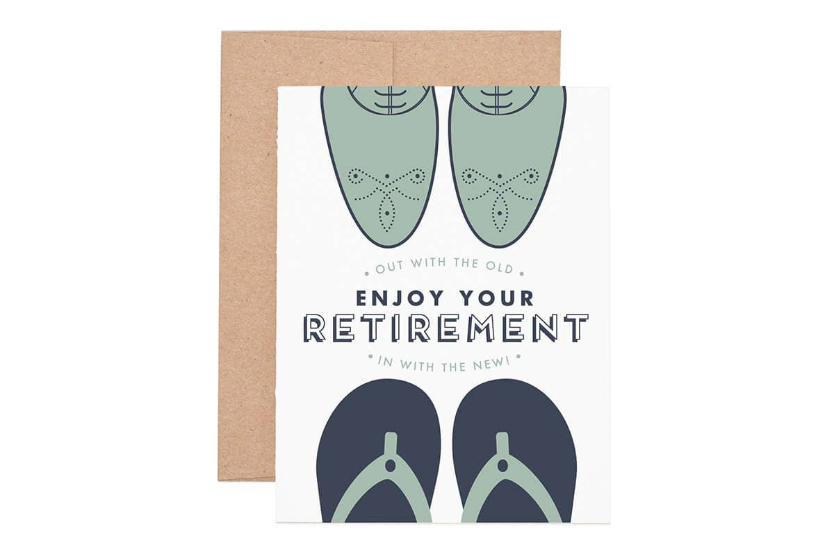 Out With The Old Retirement Greeting Card