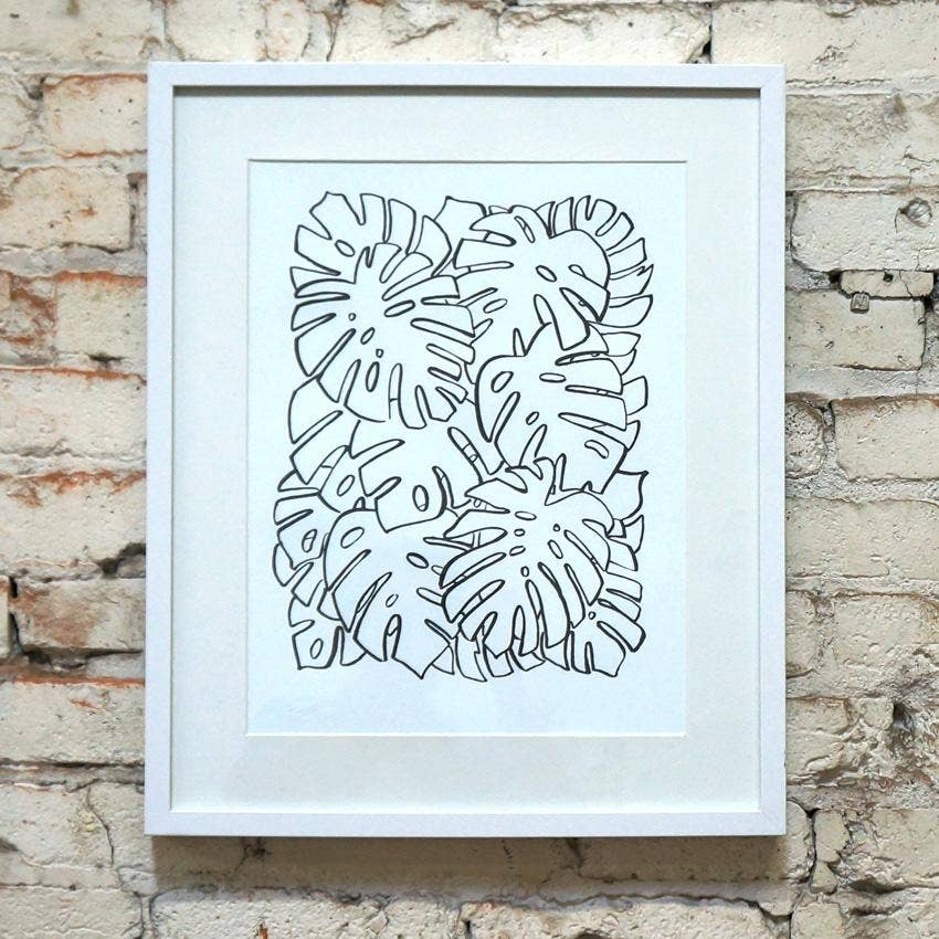 Monstera Leaf 12X18 Art Print