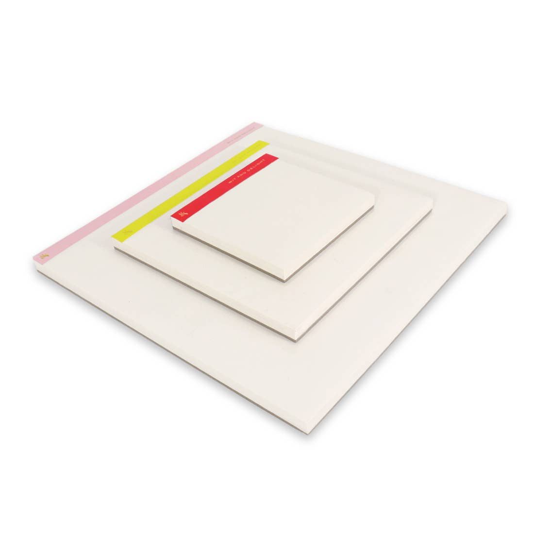 Desktop Notepad Set - Pink/Yellow/Red
