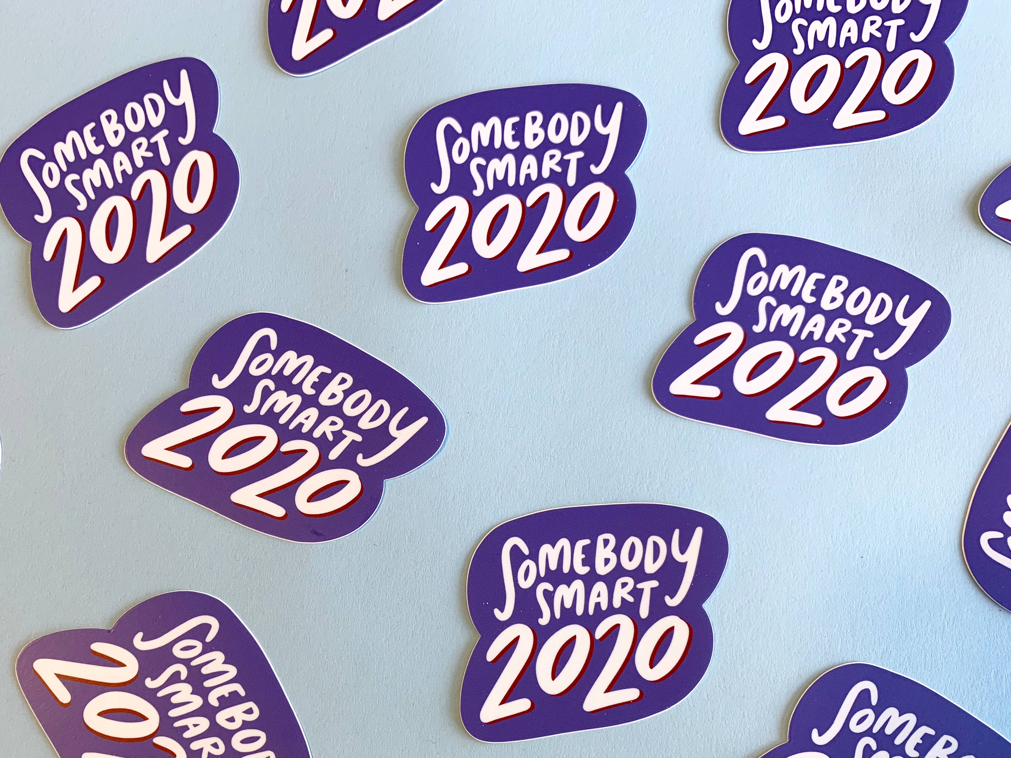 Somebody smart 2020 sticker