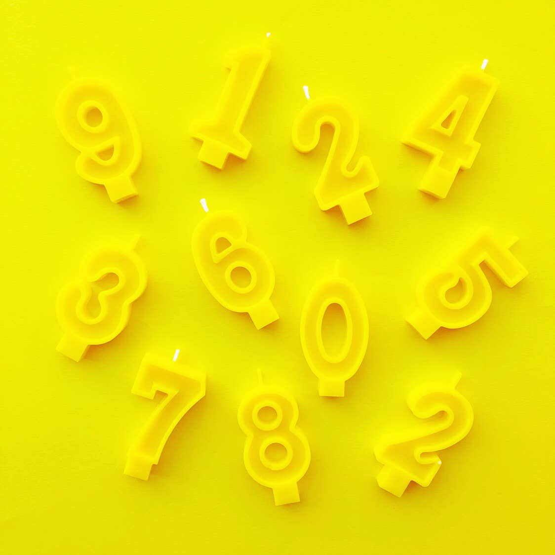 Yellow Number Candles