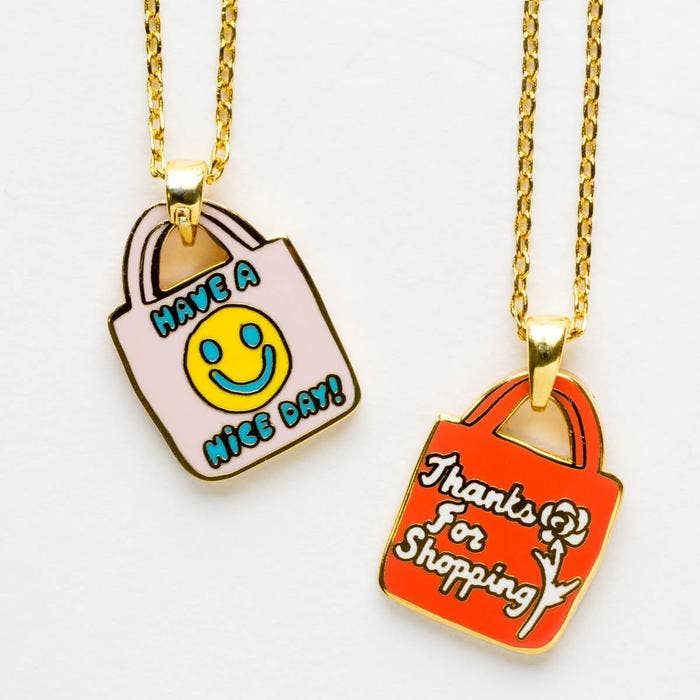 Have A Nice Day Double Sided Pendant