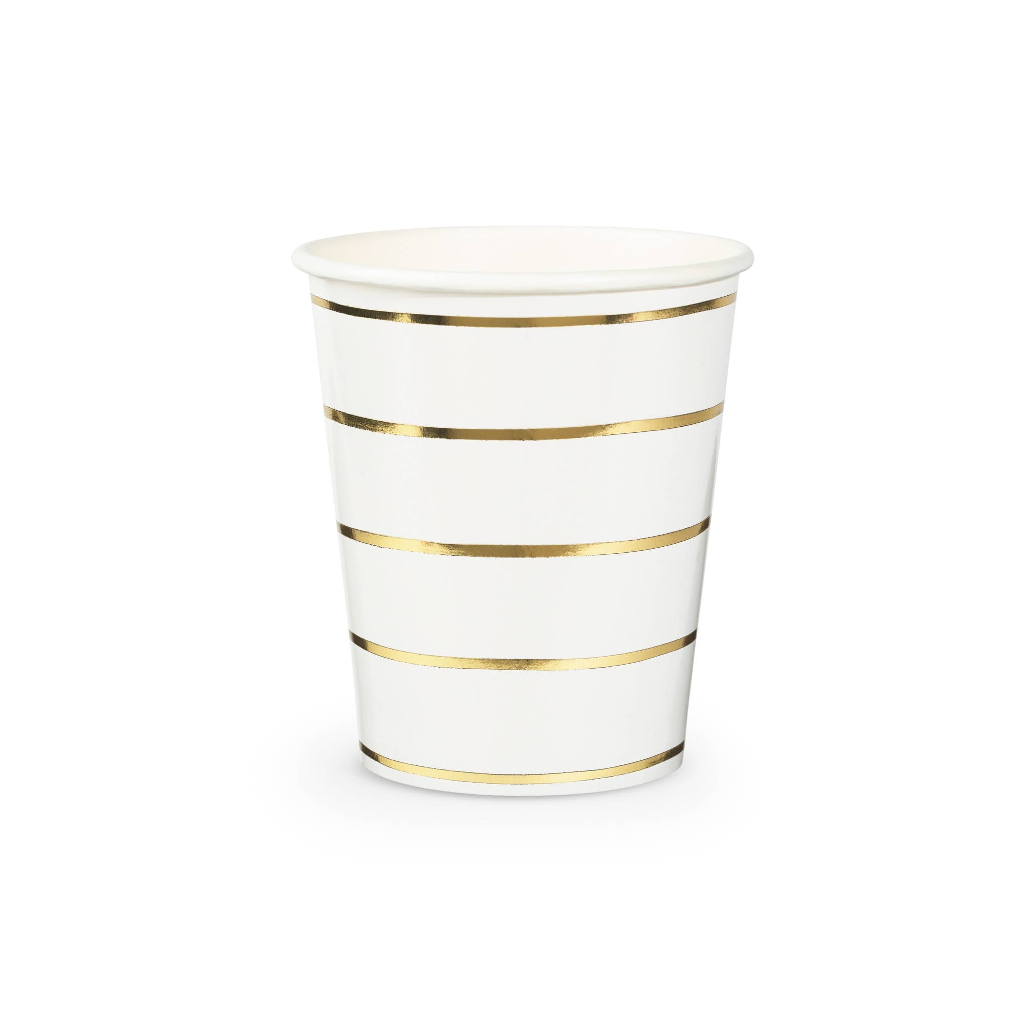 Frenchie Metallic Striped Cups (Pack of 8)