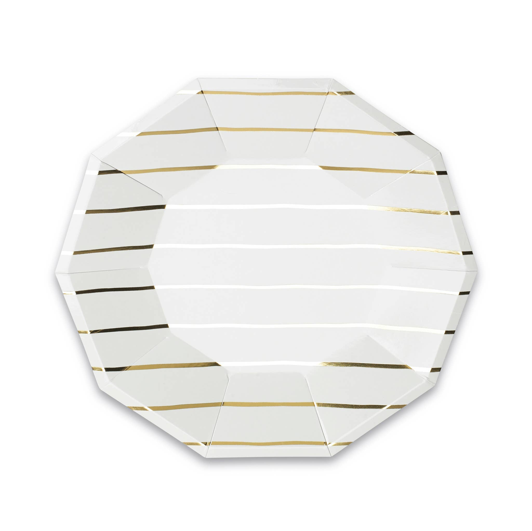 Frenchie Matallic Striped Large Plates