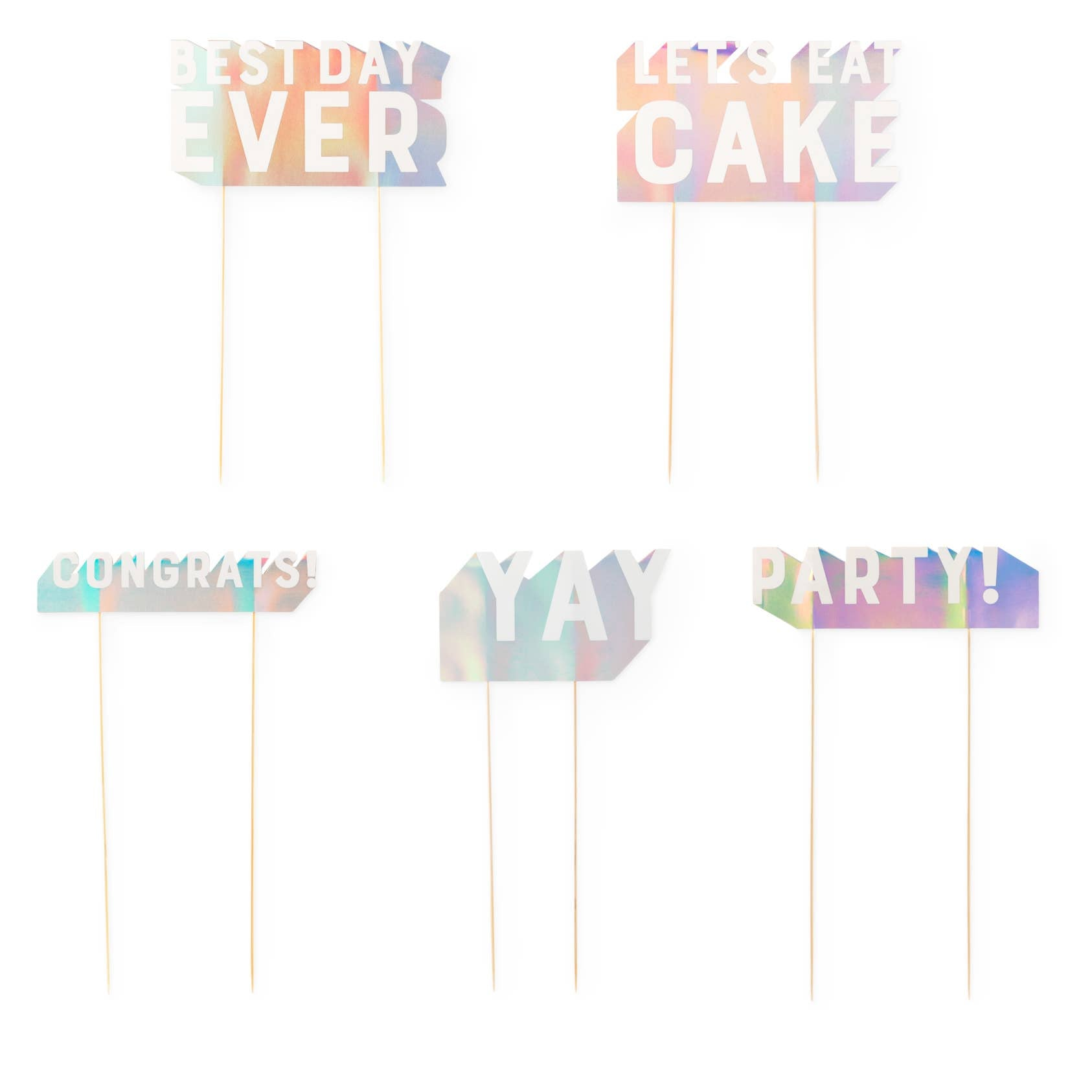 Assorted Paper Cake Topper Sayings