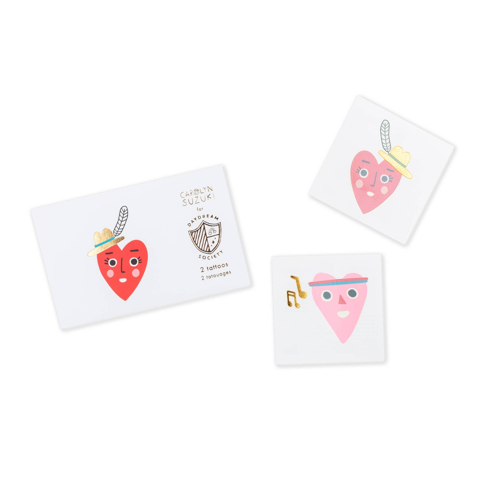 Heartbeat Gang Temporary Tattoos