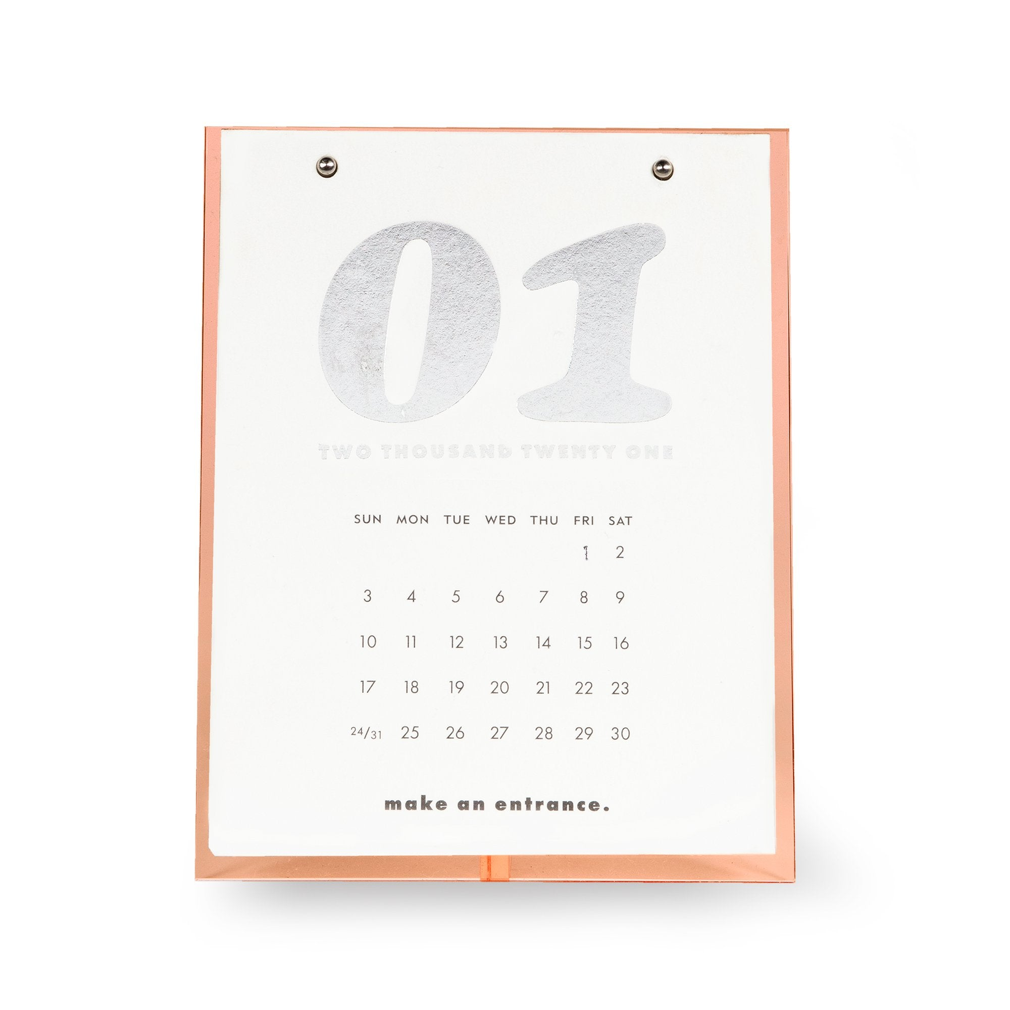 Desktop Calendar on Easel