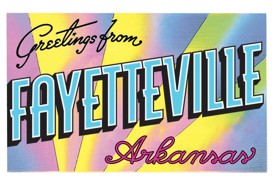 Greetings from Fayetteville Risograph Print