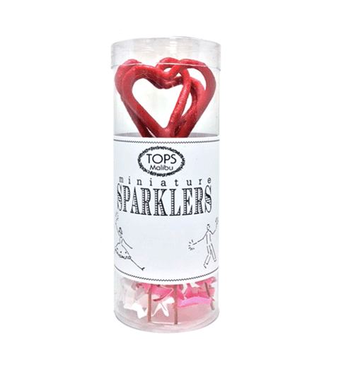 Red Mini Heart Sparklers (4 Pack)