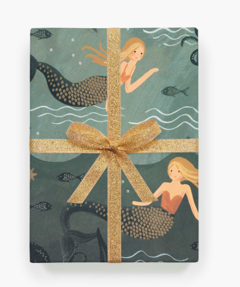 Vintage Mermaid Wrapping Sheets