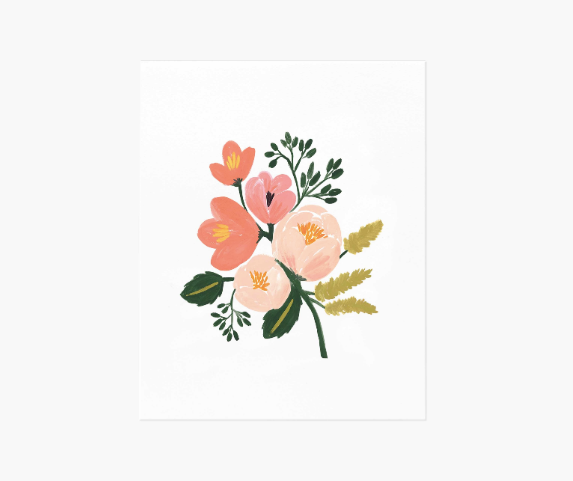 Rose Botanical Print (8x10)