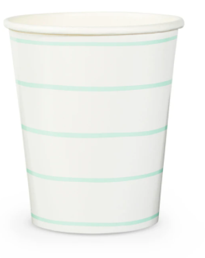 Frenchie Striped Cups (Pack of 8)