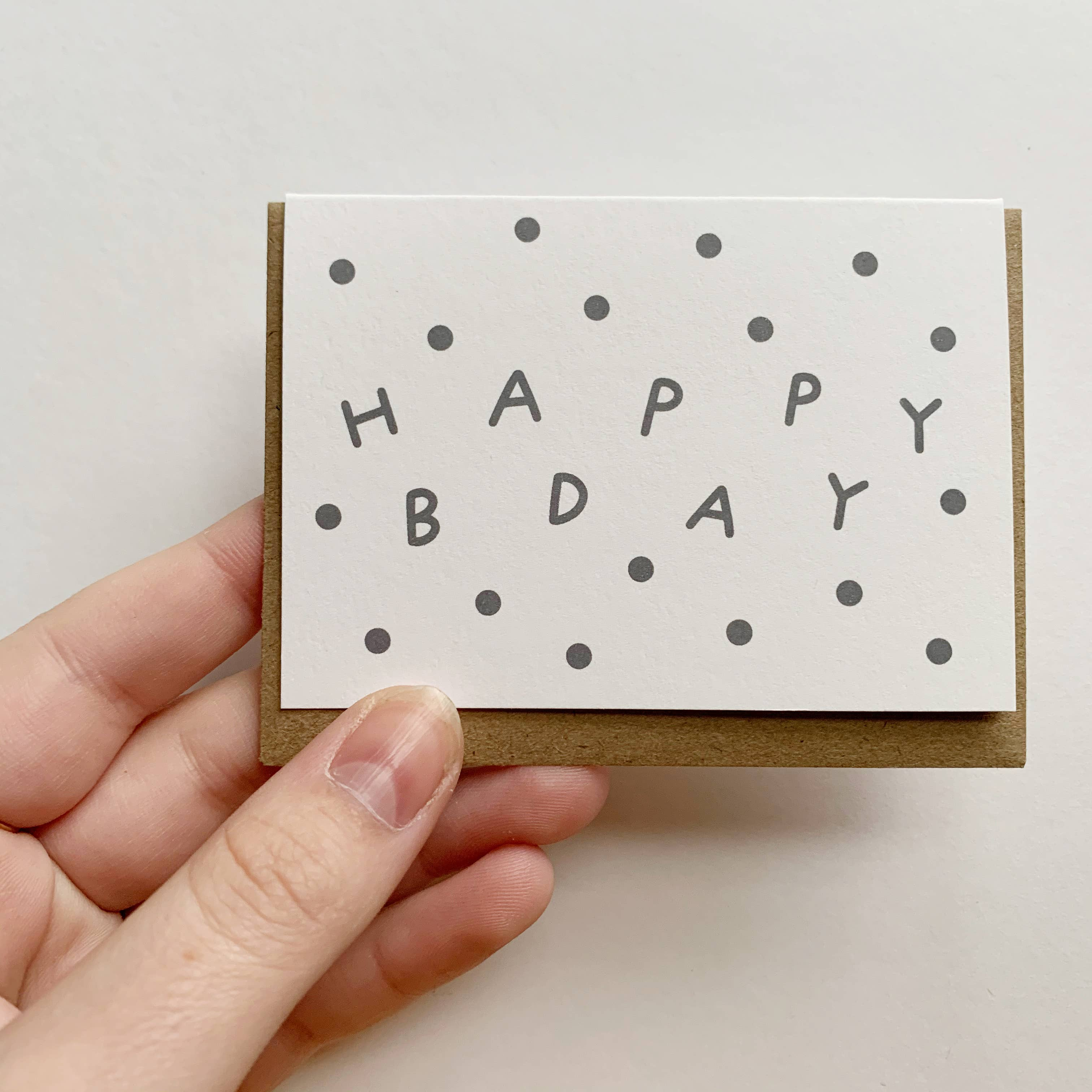 Tiny Enclosure Card - Happy Bday