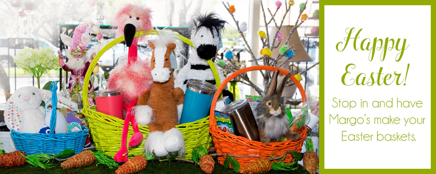 Easter Baskets created at Margo's Gift Shop