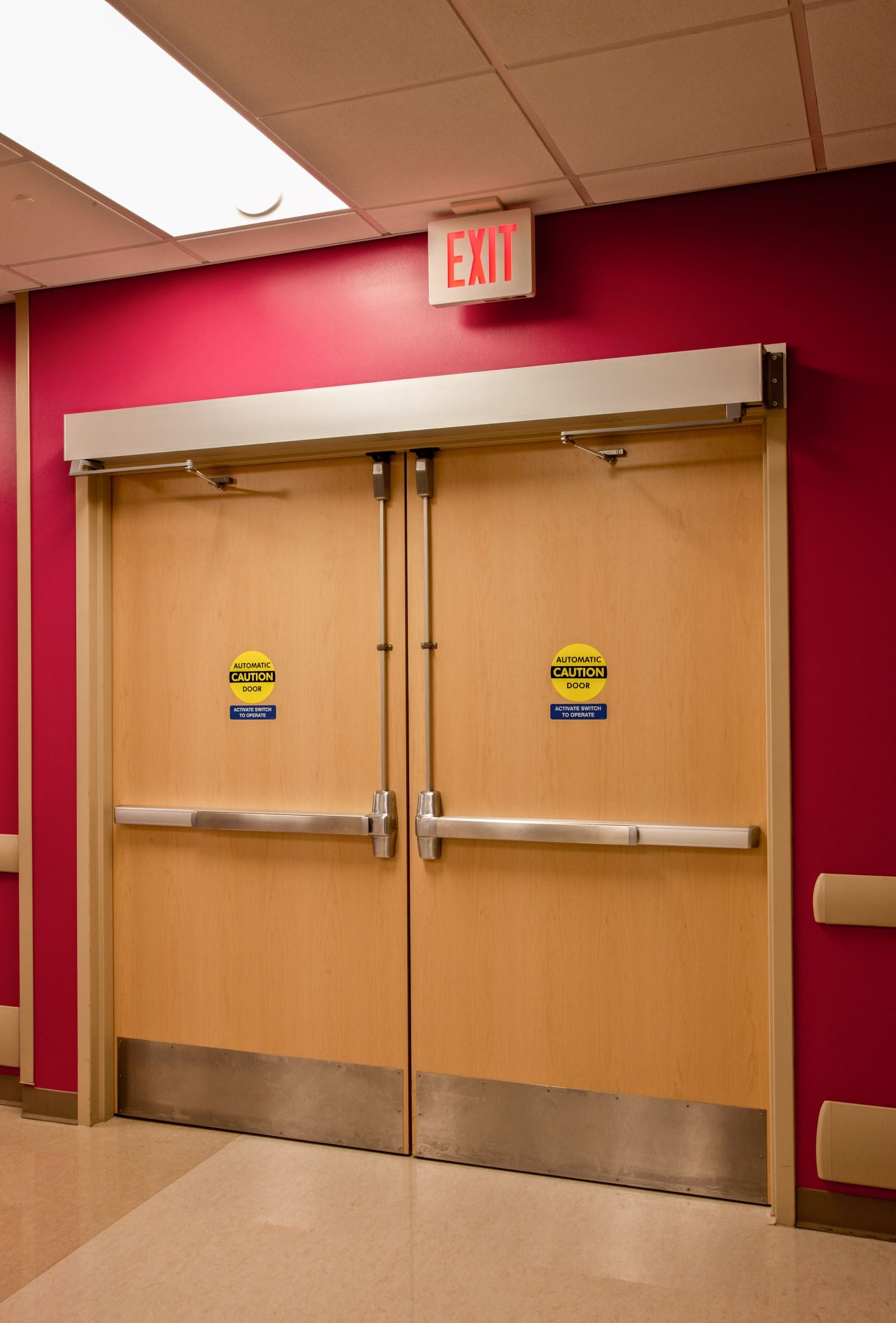 Demo photo of a set of ADA compliant automatic double doors