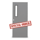 Republic 3'0 x 7'0 Insulated Hollow Metal Door, 90 Min. Fire Rated With 5 x 20 Window