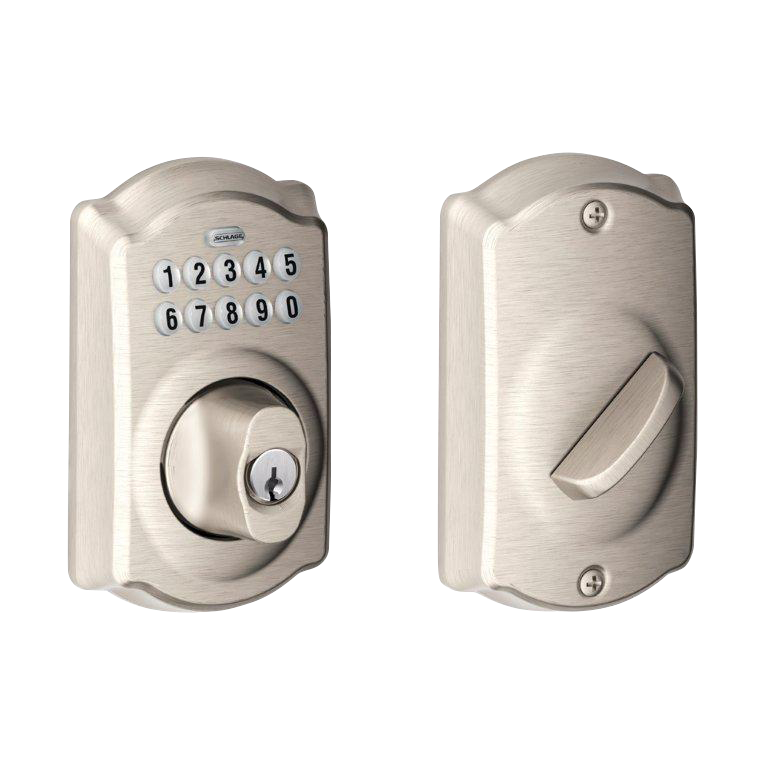 Schlage BE365 CAM Camelot trim Keypad Deadbolt