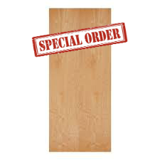 3'0 x 7'0 Commercial Mineral Core Birch Wood Door, Factory Finished Clear