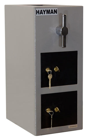 Hayman CV-H19-2 KK Cash Vault Top Load Depository Safe-Double Door