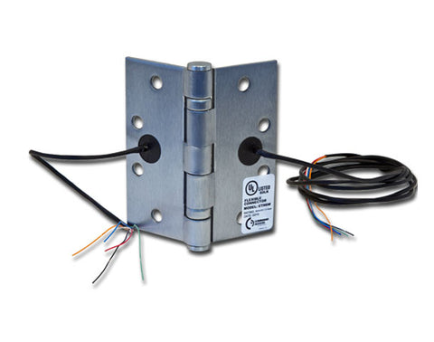 "Command Access ETH4W, 4 1/2"" Electrified Transfer Hinge, 4-Wire, 5 Knuckle, 26D Finish"