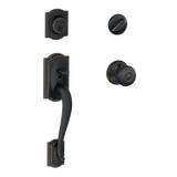 Schlage F60 CAM GEO Camelot Single Cylinder Handleset and Georgian Knob