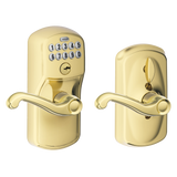 Schlage FE595 PLY FLA Keypad Lever with Plymouth trim and Flair Lever with Flex Lock