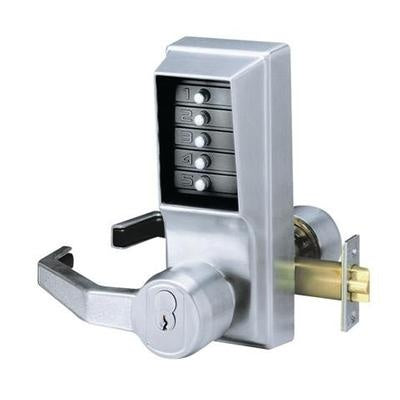 Kaba Unican L1021 Series Push Button Lever Lock W/ Key Override