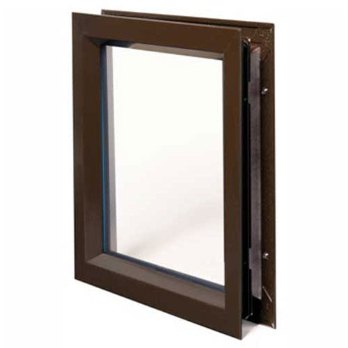 "National Guard 12"" x 12"" Commercial Lite Kit w/ 1/4"" Clear Tempered Glass (Dark Bronze Finish) National Guard p/n L-TG-1/4""-FRA-GT118"