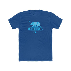 California Blue Bear - Men's Cotton Crew Tee