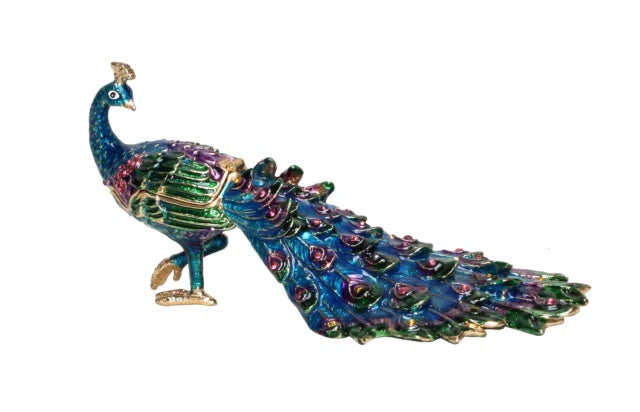 Trinket Box Peacock