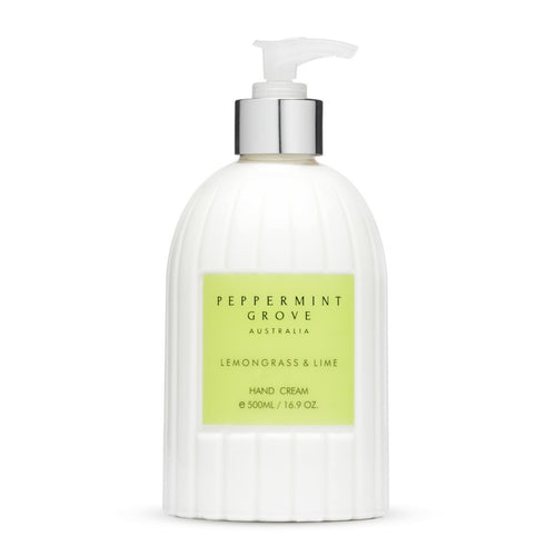 Hand Cream Pump 500ml - Lemongrass & Lime