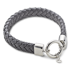Black Leather Wide Bracelet