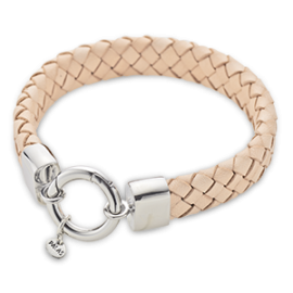 Natural Leather Wide Bracelet