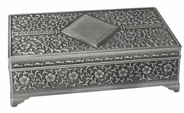 Pewter Jewellery Box - Large