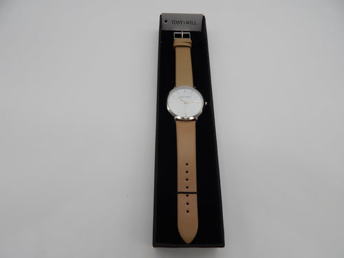 Tony & Will - Beige Leather Watch